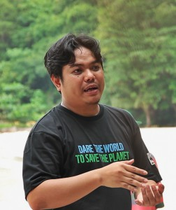 Paolo Pagaduan, project manager at WWF-Philippines (Photo by Edzelle Peña)