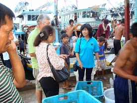 A live fish market in Tawau, Malaysia (Photo courtesy of CTI Southeast Asia Regional Project Management Office)