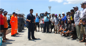 Community enforcers, combined with national and local detachment units, comprise a formidable defense for the Danajon Bank fisheries ecosystem.  (Photo by CTKN)