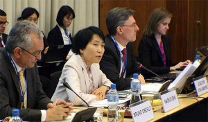 From Left: Bruno Oberle, Swiss State Secretary of the Environment, Naoko Ishii, CEO & Chairperson of the GEF, and Joachim von Amsberg, Vice President for Concessional Finance and Global Partnerships in the World Bank Group. (Photo from GEF)