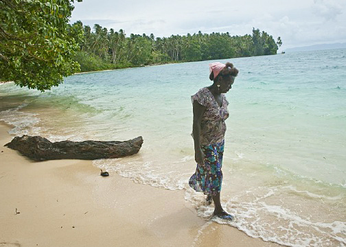 Nuatalii Veniiy is a key player in community conservation on Ghizo Island in the Solomon Islands. (Photo by: USAID CTSP/Tory Read)