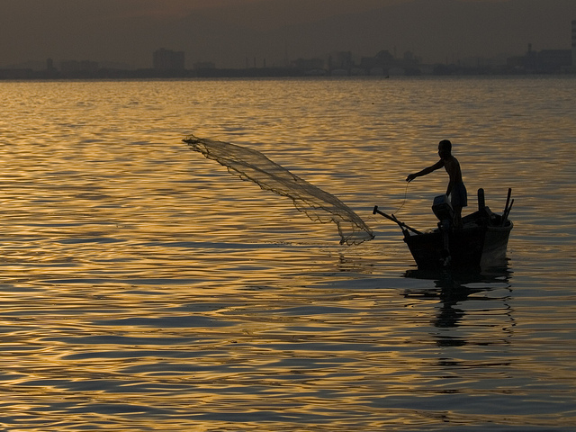 Small-scale fisheries, Malaysia. (Photo by: Jamie Oliver/Worldfish)