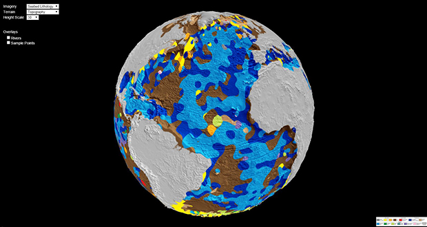 Geological data sets from ships allowed geologists to produce the world's first digital map of the seafloor's lithology.