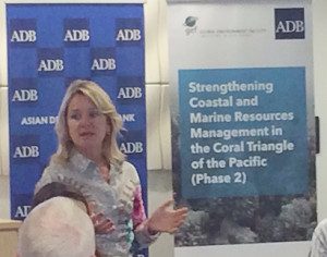 Andrea Iffland, Regional Director of the Pacific Liaison and Coordination Office in Sydney, addressing the country participants, NGO representatives, and technical experts (Photo by: CTKN)